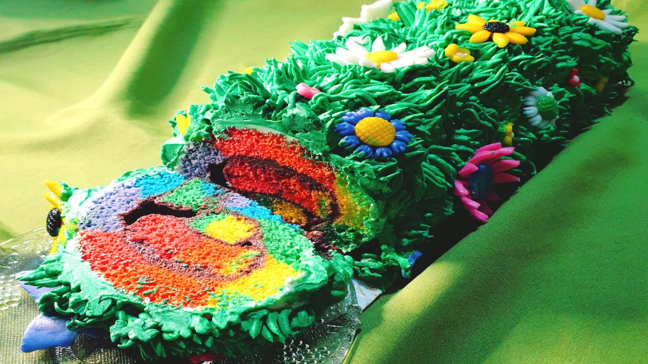 Delicious Rainbow Swiss Roll Cake Recipe